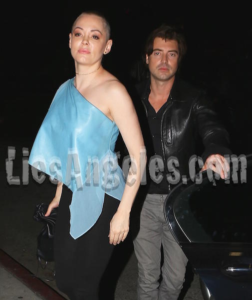 Rose McGowan with male friend