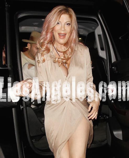 Tori Spelling at The Abbey