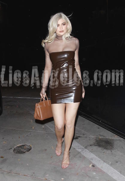 Kylie Jenner in brown